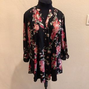 Flowered Blouse Add Jeans!
